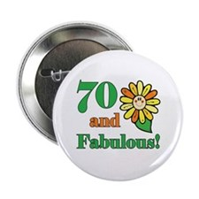 "Fabulous 70th Birthday 2.25"" Button (10 pack)"