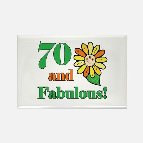 Fabulous 70th Birthday Rectangle Magnet