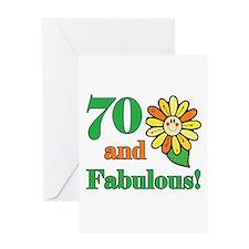 Fabulous 70th Birthday Greeting Card
