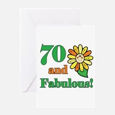 Fabulous 70th Birthday Greeting Card