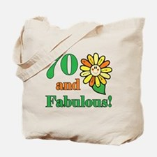 Fabulous 70th Birthday Tote Bag
