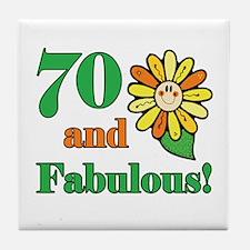 Fabulous 70th Birthday Tile Coaster
