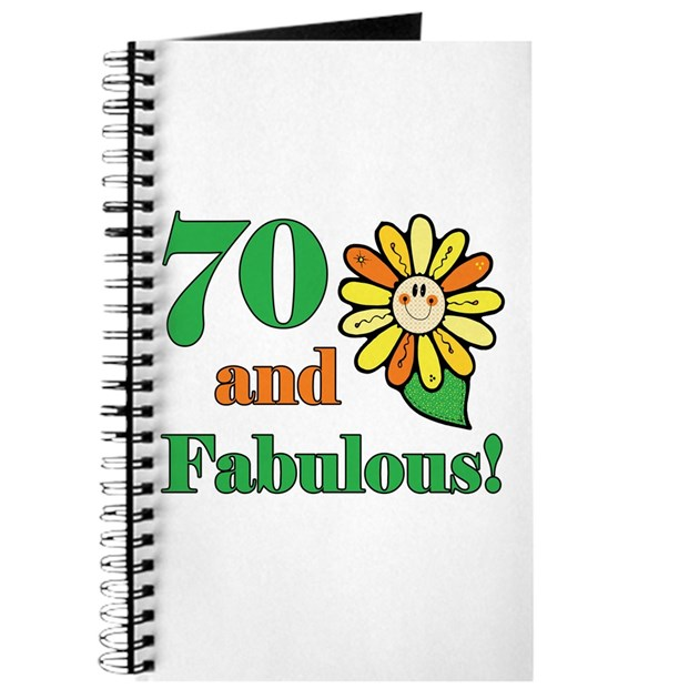 Fab At 70: Fabulous 70th Birthday Journal By Thebirthdayhill