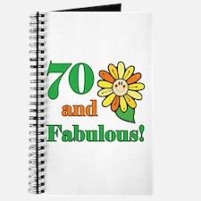 Fabulous 70th Birthday Journal