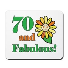 Fabulous 70th Birthday Mousepad