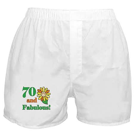 Fabulous 70th Birthday Boxer Shorts