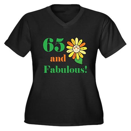 Fabulous 65th Birthday Women's Plus Size V-Neck Da