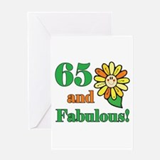 Fabulous 65th Birthday Greeting Card