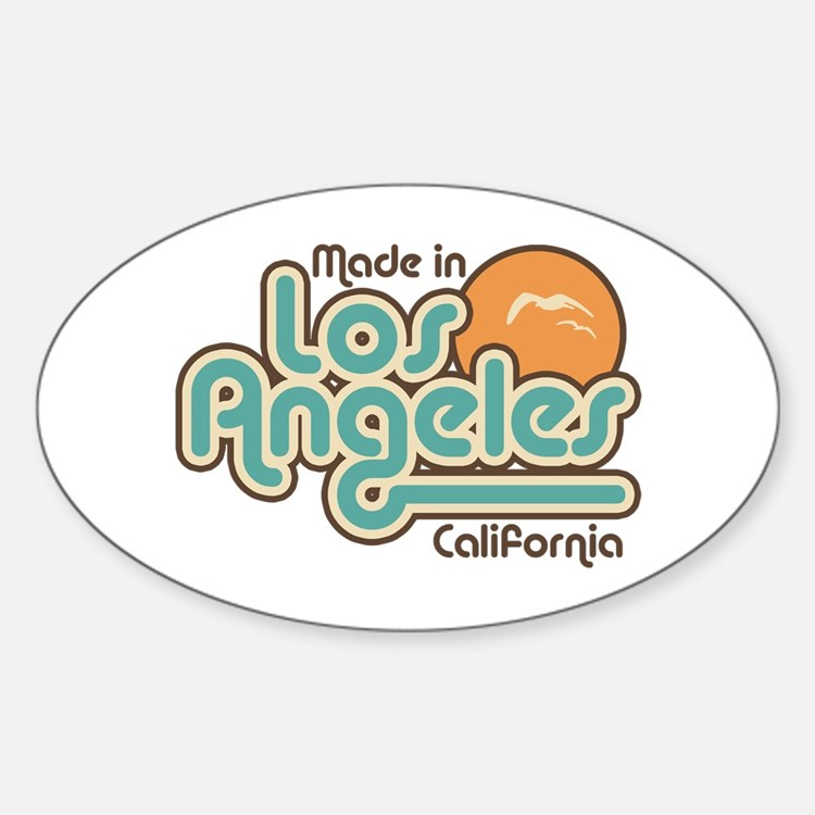 Made In Los Angeles Oval Decal