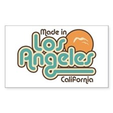 Made In Los Angeles Rectangle Decal