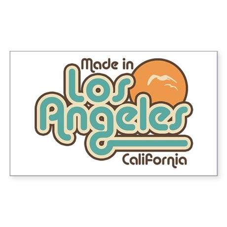 Made In Los Angeles Rectangle Sticker