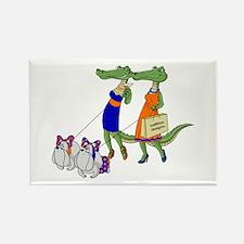 Gator Girls w/ Dawgs Rectangle Magnet