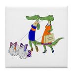 Gator Girls w/ Dawgs Tile Coaster