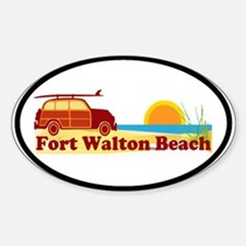 Fort Walton Beach FL Oval Decal