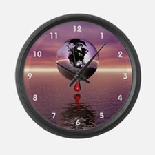 Bleeding Earth Large Wall Clock