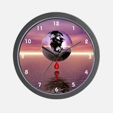 Bleeding Earth Wall Clock