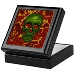 Emerald Skull Keepsake Box