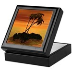 Sunset Island Keepsake Box
