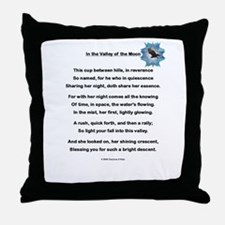 In the Valley of the Moon Poetry Throw Pillow