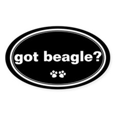 Got Beagle? Oval Decal