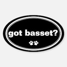 Got Basset? Oval Decal