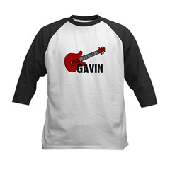 Guitar - Gavin Kids Baseball Jersey