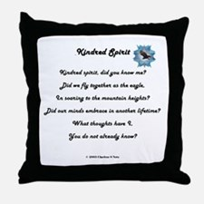 Kindred Spirit Poetry Throw Pillow