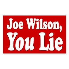 Joe Wilson, You Lie Bumper Decal