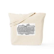 Lost Democracy. Please return Tote Bag
