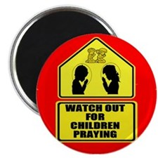 Watch for Children Praying Magnet