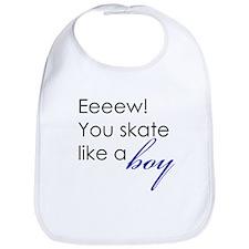 Skate Like a Boy Bib
