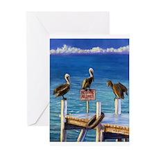 Pelican Trio Single Greeting Card