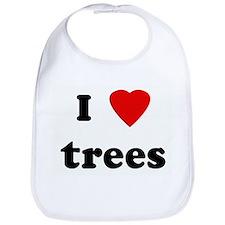 I Love trees Bib