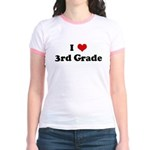 I Love 3rd Grade Jr. Ringer T-Shirt