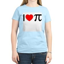 I Heart Pi Women's Pink T-Shirt