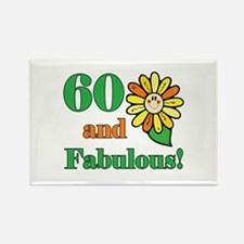 Fabulous 60th Birthday Rectangle Magnet