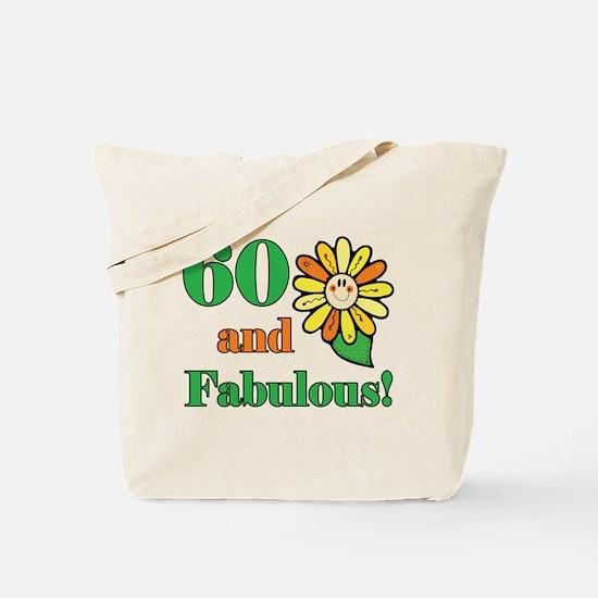 Fabulous 60th Birthday Tote Bag