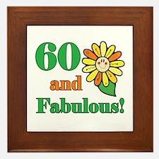 Fabulous 60th Birthday Framed Tile