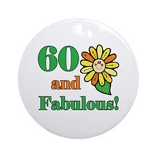 Fabulous 60th Birthday Ornament (Round)