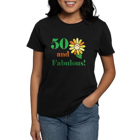 Fabulous 50th Birthday Women's Dark T-Shirt