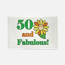 Fabulous 50th Birthday Rectangle Magnet