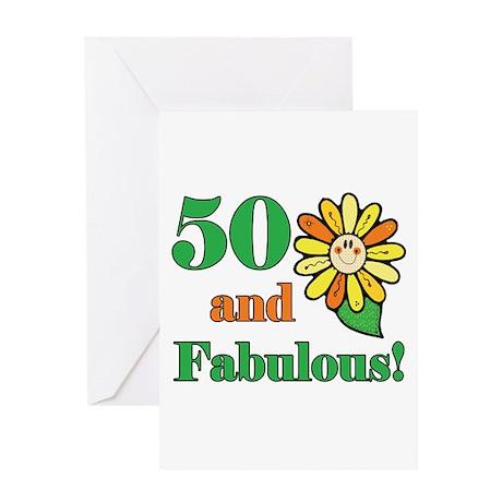 Fabulous 50th Birthday Greeting Card