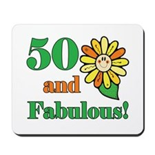 Fabulous 50th Birthday Mousepad
