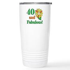 Fabulous 40th Birthday Thermos Mug