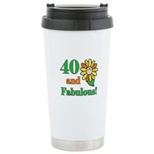 Fabulous 40th Birthday Travel Mug