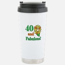 Fabulous 40th Birthday Travel Mug