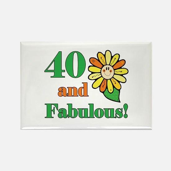 Fabulous 40th Birthday Rectangle Magnet