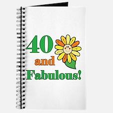 Fabulous 40th Birthday Journal