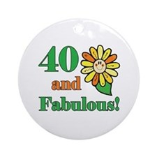 Fabulous 40th Birthday Ornament (Round)