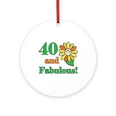 Fabulous 40th Birthday Ornament (Round)